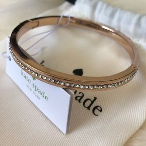 NEW Kate Spade Rose Gold Ring it Up Bangle